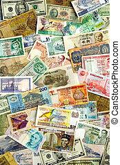 internacional, moedas correntes