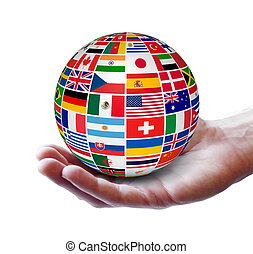 internacional, negócio global, conceito