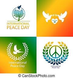 internacional, paz, dia, cartaz