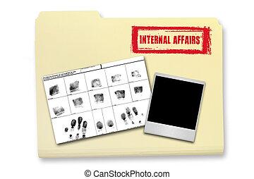 Internal Affairs Investigation Elements in a Folder