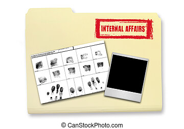 Internal Affairs Investigation Elements in a Folder