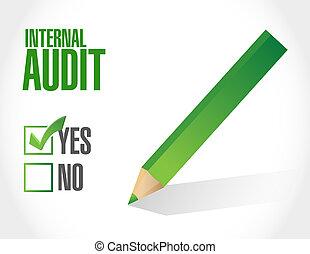 Internal Audit approval sign concept illustration design...