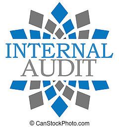 Internal Audit Blue Grey Squares
