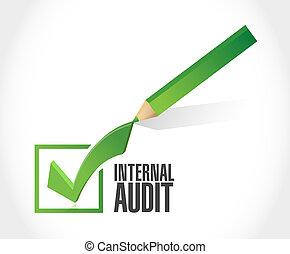 Internal Audit check mark sign concept