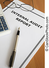 Internal Audit Report - Image of an internal audit report on...