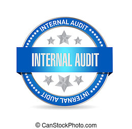 Internal Audit seal sign concept illustration design graphic