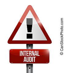 Internal Audit warning road sign concept