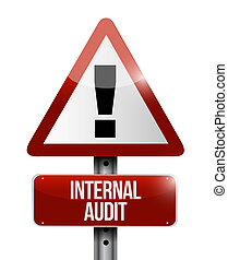 Internal Audit warning road sign concept