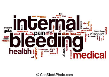 Internal bleeding word cloud concept