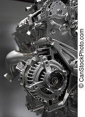Internal combustion engine - Metallic shiny new internal...