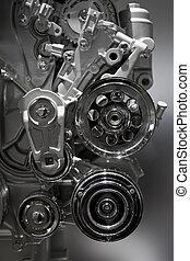 Internal combustion engine - Metallic shiny new internal...