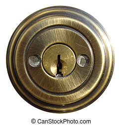Internal Piece of Protecto-Keyed Door Lock with Masked Bolts