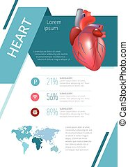 Internal human organs infographic heart - Internal human...
