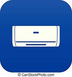Internal unit air conditioner icon digital blue for any...