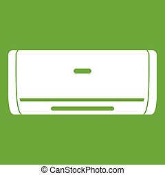 Internal unit air conditioner icon green