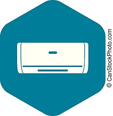 Internal unit air conditioner icon, simple style