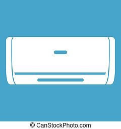 Internal unit air conditioner icon white