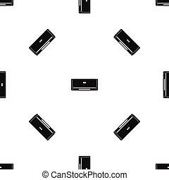 Internal unit air conditioner pattern seamless black -...