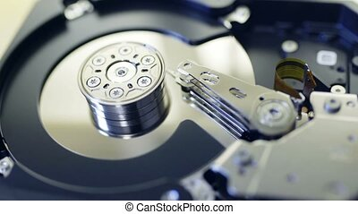 Internals of SATA hard disk drive