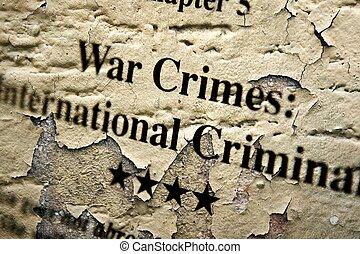 internation, crimes, guerre