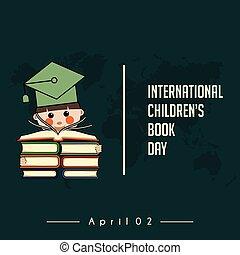 internationaal, boek, kinderen, dag