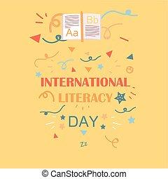 internationaal, dag, geletterdheid