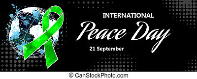 internationaal, dag, van, vrede