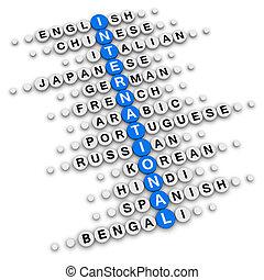 internationaal, kruiswoordraadsel