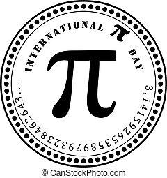 internationaal, pi, dag