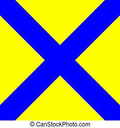 internationaal, signaal, vlag, maritiem