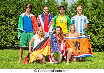 internationaal, sportende, team
