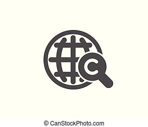International Ð¡opyright simple icon. Copywriting.
