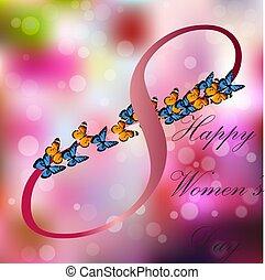 international, 8, mars, jour, femmes