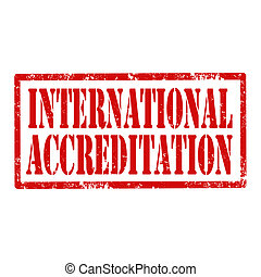 International Accreditation-stamp - Grunge rubber stamp with...