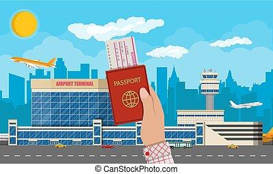 International airport concept.