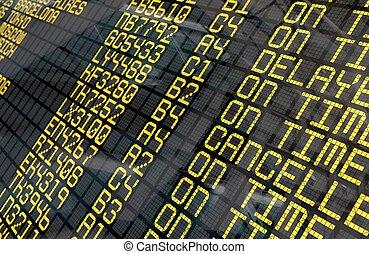 International Airport Departure Board