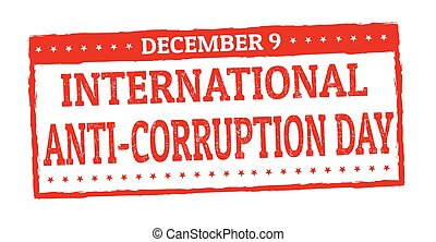 International anti-corruption day grunge rubber stamp