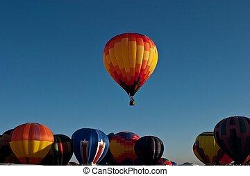 international, balloon, fête, albuquerque