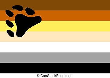 bear brotherhood flag - International bear brotherhood flag,...