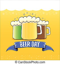 happy beer day vector graphic poster.