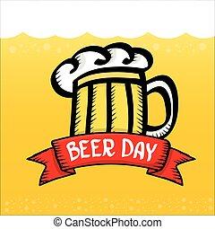 international, bière, vecteur, jour, arrière-plan.