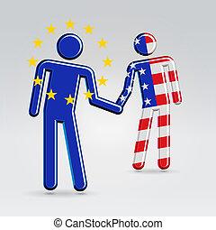 International business collaboration concept illustration -...