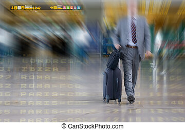 International Business man in the Airport - International...