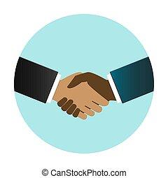 International business people shake hand