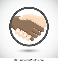 International business people shaking hands.