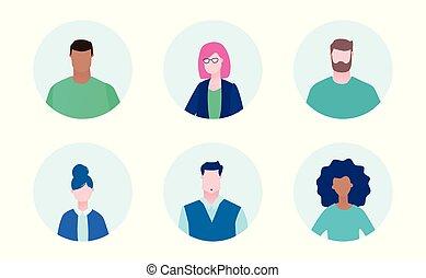 International business team - flat design style illustration