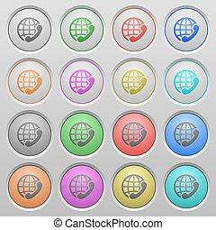 International call plastic sunk buttons