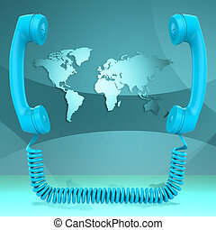 International Call Represents Globalisation Chat And Earth -...