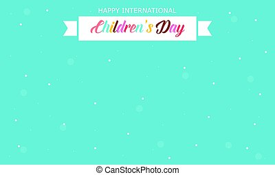 International childrens day style card