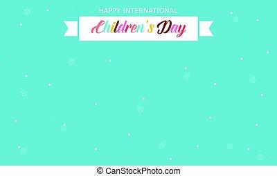 International childrens day style card